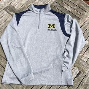 Michigan Colosseum quarter zip pullover fleece